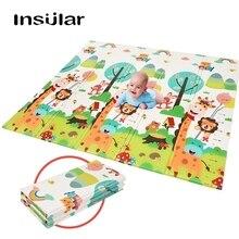 150*200*1 см детский складной игровой коврик XPE складной ползающий ребенок коврик водонепроницаемый нескользящий с сумкой для переноски 12 цветов на выбор