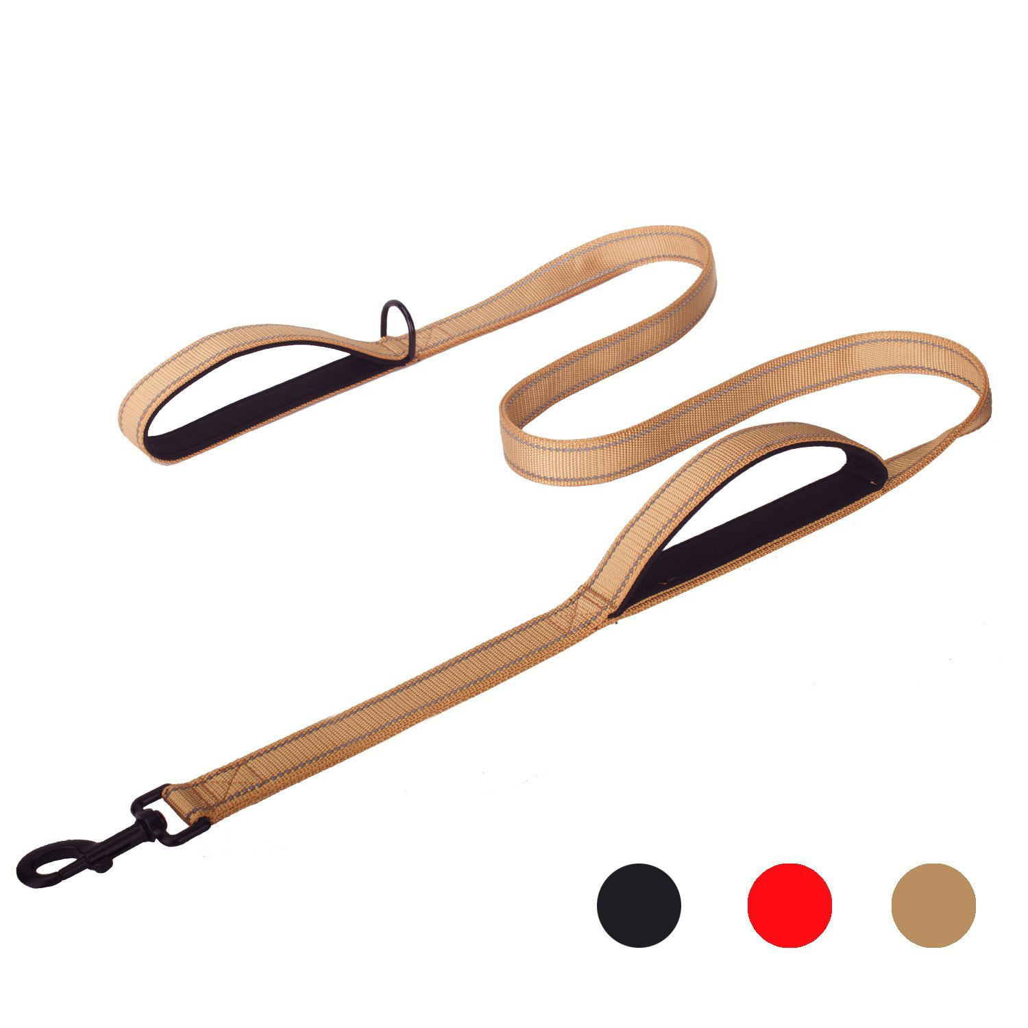 Heavy Duty Dog Leash - 2 Padded Traffic Handle For Extra Control, 50inch Long - Reflective Dog Leashes for Medium to Large Dogs