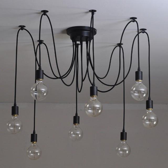 Modern Edison Bulb Chandelier Lighting 6 8 12 Heads E27 Lampholder Adjule Diy