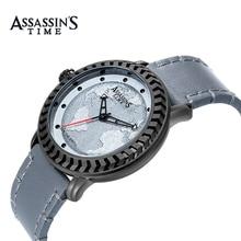 Часы Assassin's Fashion Fashion Fashion Men Map Кварцевые спортивные часы Марка Роскошные водонепроницаемые повседневные мужские часы Relogio Masculion