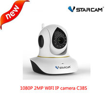 VStarcam C38S full HD 1080P Wifi IP Camera P2P ONVIF IR Cut Wireless Indoor P/T IP Camera two-way Audio with motion detector
