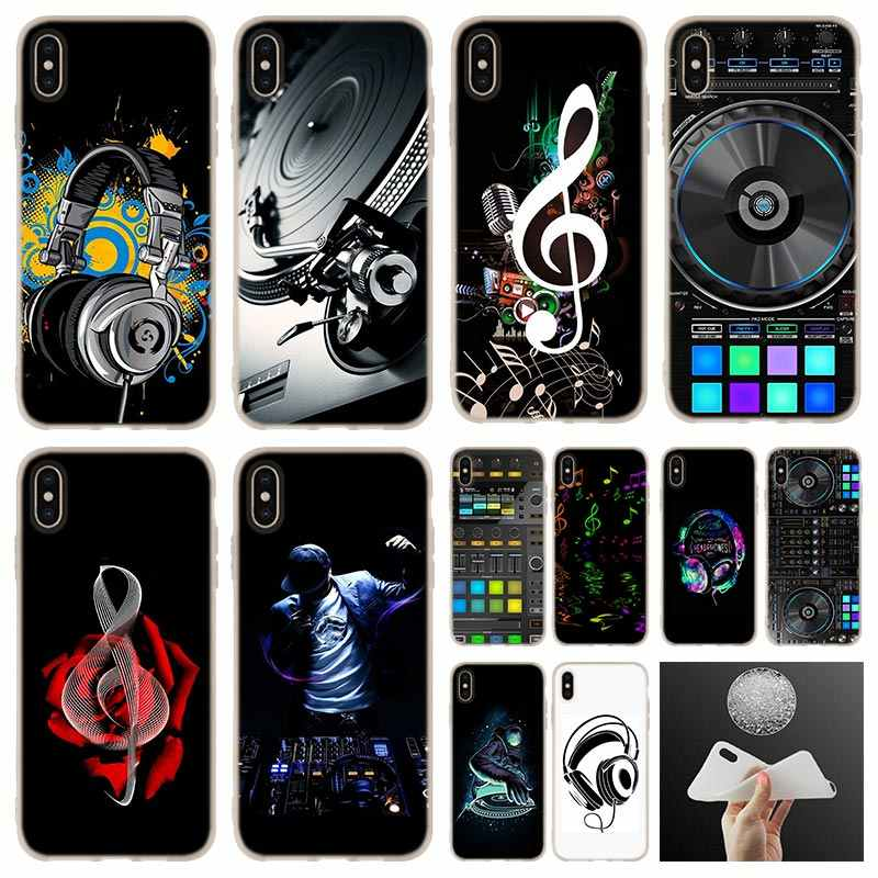 Para iphone caso x ddj dj music silicone suave Case capa Do Telefone Para iphone 7 8 Plus XR XS Max 5.8 6.5 6.1 2019 caso 4 5 5S SE 6 6s