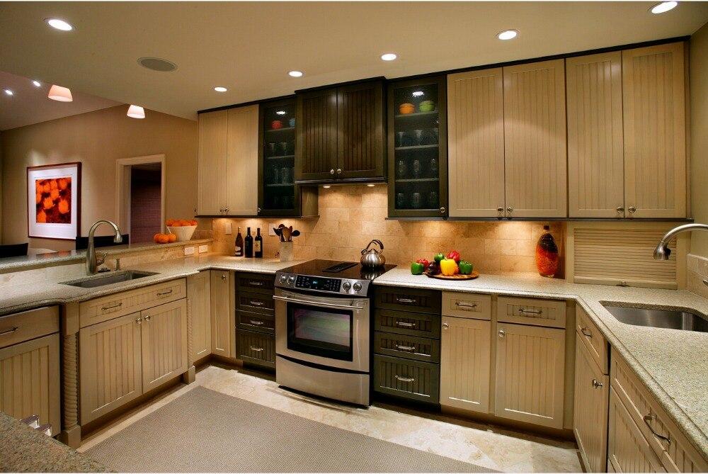 Твердые деревянные кухонные шкафчики традиционный стиль anttique армадио да cucinakitchen мебели с кухня Остров S1606021