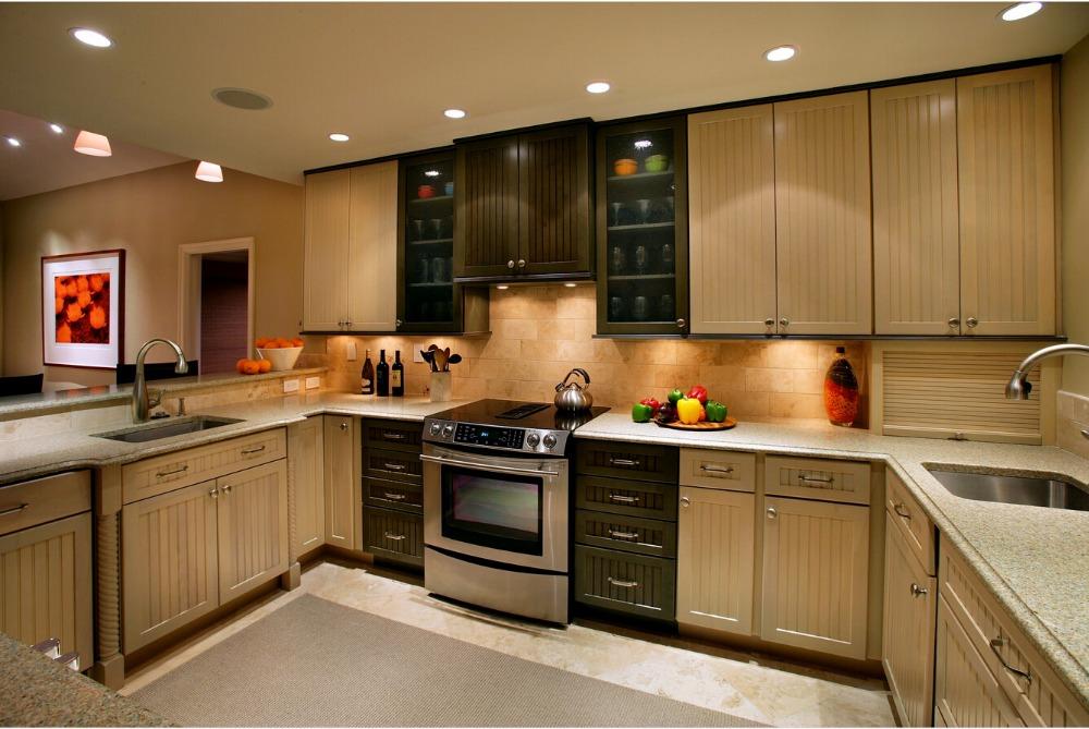 Meubles cuisine bois massif meuble cuisine avec evier for American style cuisine