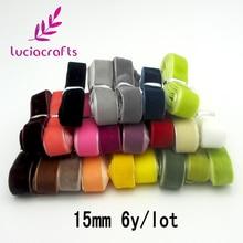 Lucia crafts много вариантов Случайных Смешанных бархатных лент для волос Лук Свадебная вечеринка украшения Ремесло T0701