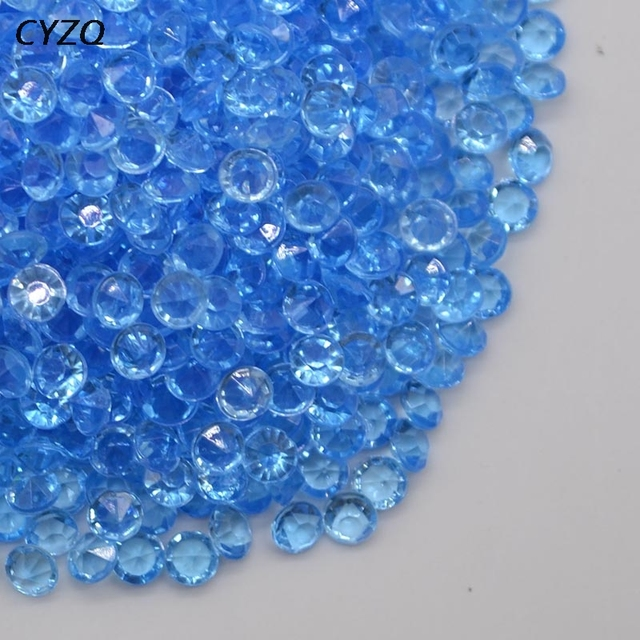1000PCS 4.5mm Acrylic Crystals Confetti Wedding Table Scatters Decoration Centerpiece Event Party Supplies 2