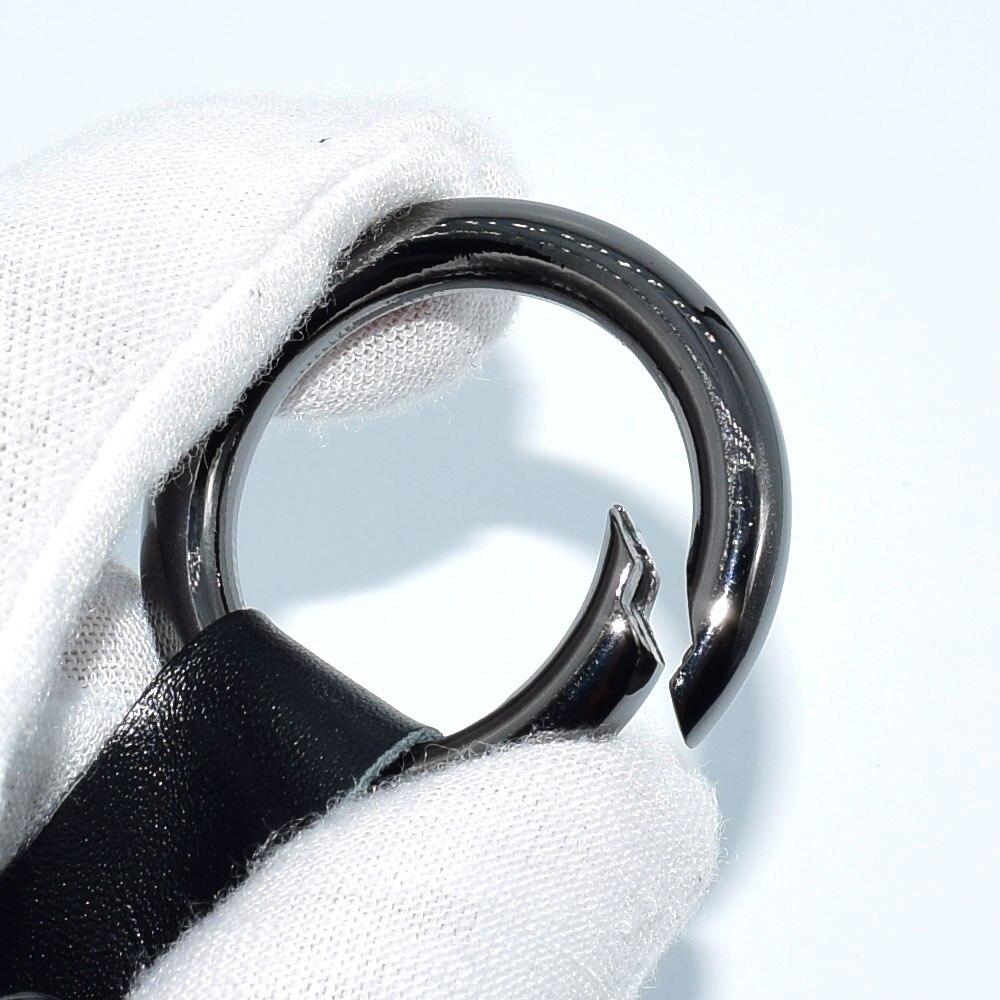 ATOBABI Натуральная кожа ключа автомобиля чехлы для Tesla модель X Smart Key Fob брелок Кожаные чехлы с кольцом для ключей стайлинга автомобилей