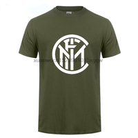 GILDAN Mens T Shirts Fashion 2017 Inter Milan Logo Printed T Shirt Cotton O NECK Short