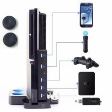 Высокоскоростной эспандер 5 USB Hub USB 2,0, концентратор адаптер 5 в 1, USB конвертер для Playstation PS3 и Sony PS3 Slim консоли 2 в 5 + колпачки