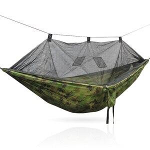 Image 3 - 安全屋外屋外折りたたみポータブルキャンプハンモックテント