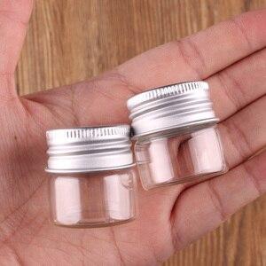 Image 4 - Frascos de terrario transparente con tapa de tapón roscado plateado, 10ml, 15ml, 20ml, 25ml, 30ml(1OZ), 40ml, 50ml, 60ml(2OZ), botellas de especias de vidrio, 24 uds.