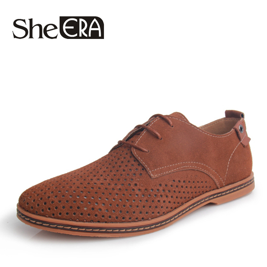 New Fashion Breathable Men Shoes Cowskin Genuine Leather ...