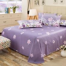 1 шт., хлопок, красивая простыня с цветочным рисунком для детей и взрослых, односпальная двуспальная кровать, простыни(без наволочки), XF631-1