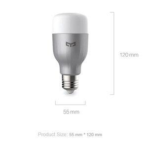 Image 5 - Yeelight מותג LED חכם הנורה WIFI שלט רחוק RGB led אורות לבית להתאים בהירות נוריות הנורה מנורת מהיר חינם