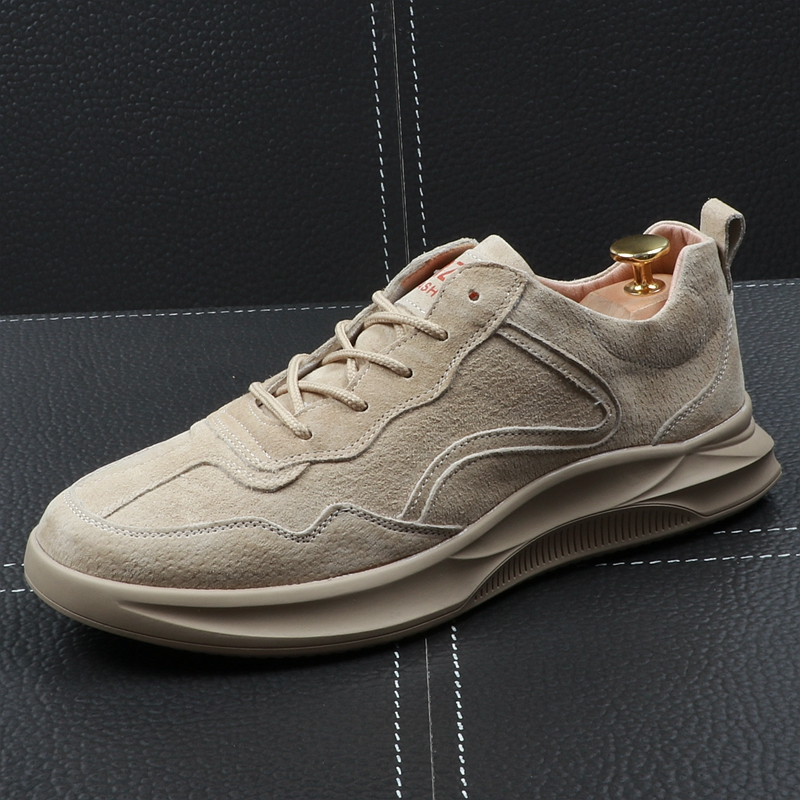 CuddlyIIPanda New Men Fashion Sneakers Male Youth Leather Retro Breathable Men Sneakers Round Toe Casual Leisure Walking Shoes