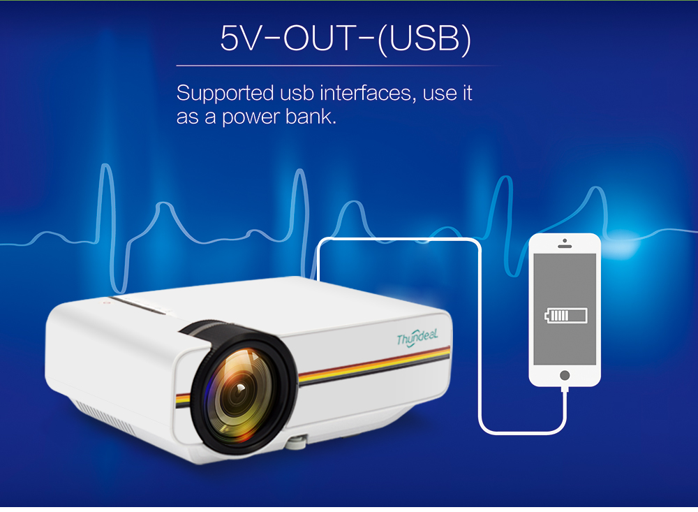 ThundeaL YG400 YG400A Mini Projector With 1800 Lumen and Built-in Speakers 17