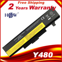 HSW Battery For lenovo For IdeaPad y485p Y480 B590 G710 N581 G700 P585 B490 Series 6CELLS
