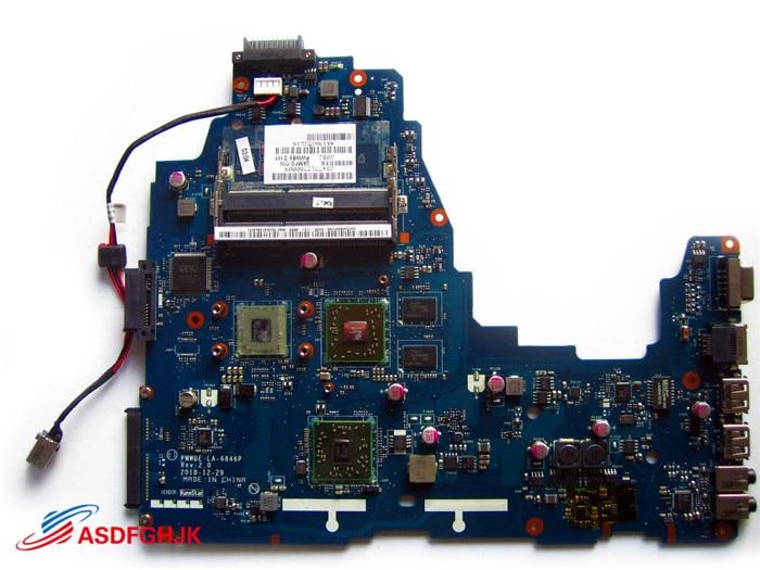 Original FOR Toshiba Satellite C660D C665D LAPTOP MOTHERBOARD K000128560 LA-6846P Test OK original for toshiba satellite m600 m640 laptop motherboard mother board la 6072p k000109650 100% test ok