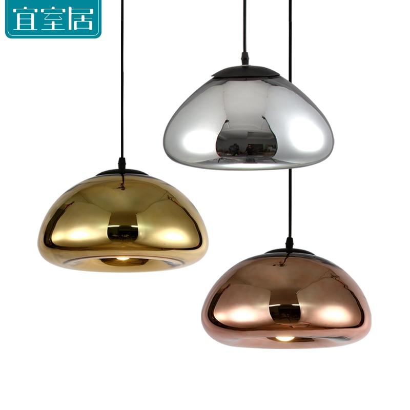 Modern Brass bowl glass E27 Pendant Lights plating Creative restaurant fashion Home bedroom decoration Tom Dixon Single head tom dixon ваза