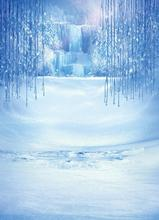 SHENGYONGBAO Vinyl Custom Photography Backdrops Prop Digital Printed  ice theme Background QBX-4017