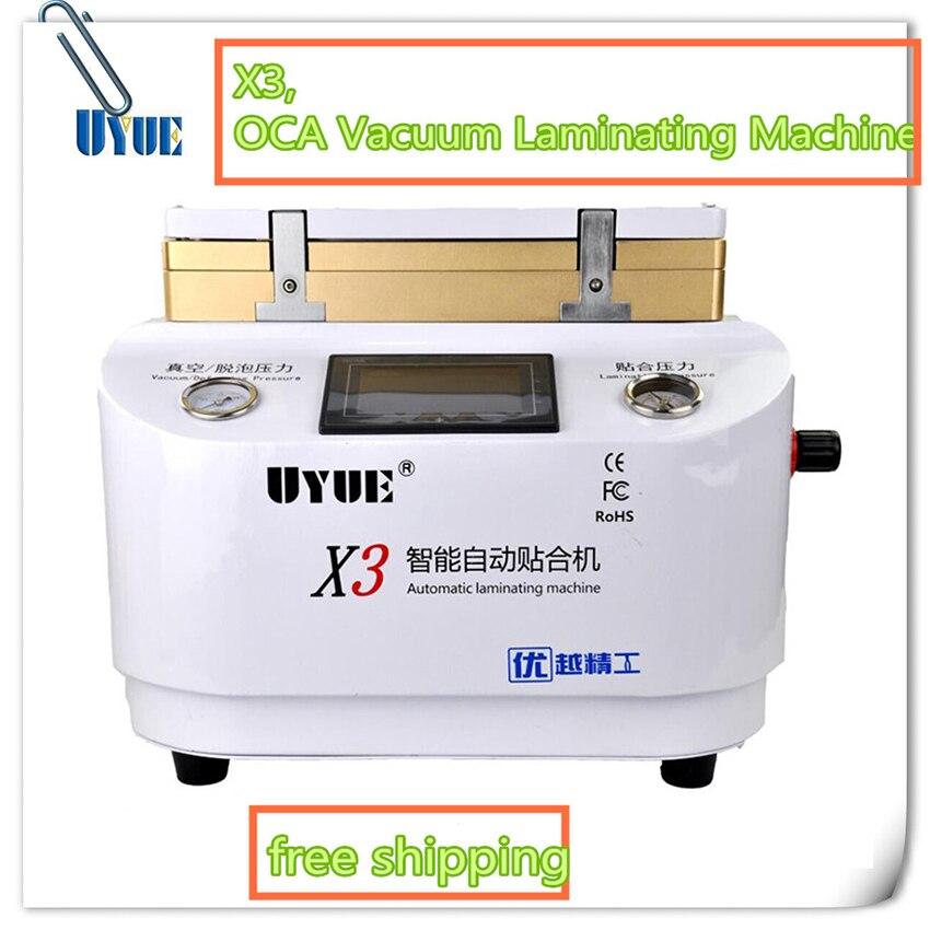 Auto lock 2 in 1 OCA Vacuum Laminating Machine X3 Automatic For Iphone Refurbish Repair Bubble Remover