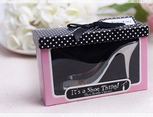 Free Shipping 50pcs lot wedding favor shoe bottle opener it s a shoe thing party gifts