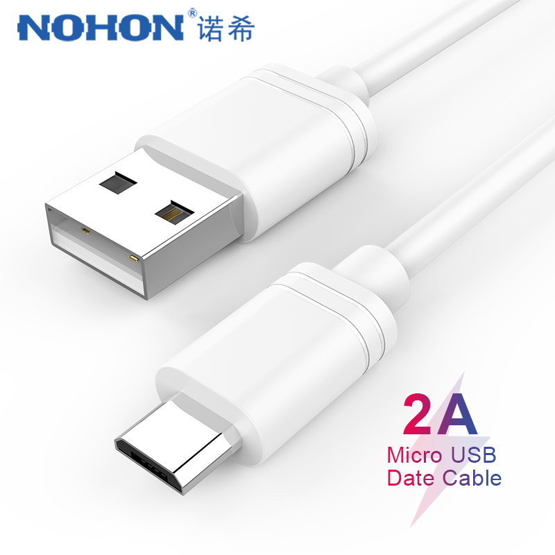 NOHON USB Data Cable Micro USB For Lenovo Android Phone Fast Charging Cord For Samsung Galaxy S7 S6 Edge Huawei Xiaomi 1M 2M 3M