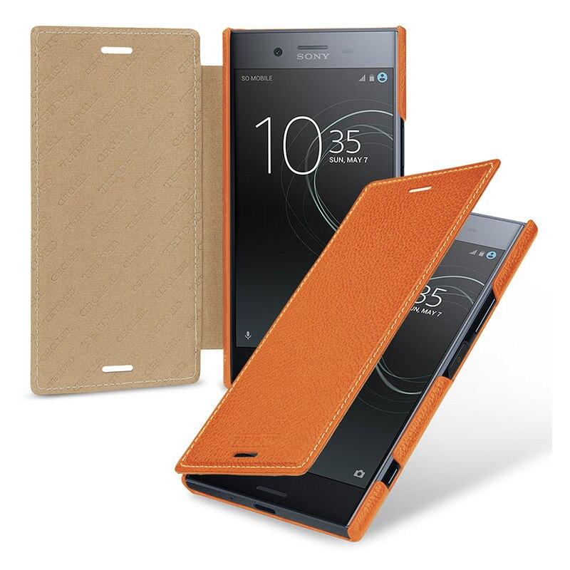 Affari di Vibrazione Del Telefono Fundas Pelle Coque capa Borsa Ultra-sottile di Lusso Cassa Del Cuoio Genuino per Sony Xperia XZ Premium 5.5 pollici