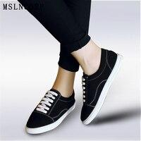 Plus Size 34 46 New Fashion Women Comfortable Casual Shoes Woman Canvas Platform Ladies Lace Up