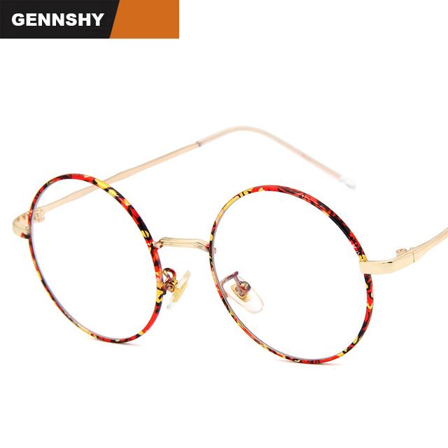 50f3a4f5bd0 Women Vintage Round Metal Frame Clear Lens Glasses Nerd Spectacles Eyeglass  Retro Round Circle Myopia Optical