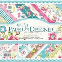 8 x 8 paper designer colorful flowers paper scrapbooking diy vintage floral scrapbook paper pack 20designs.jpg 200x200