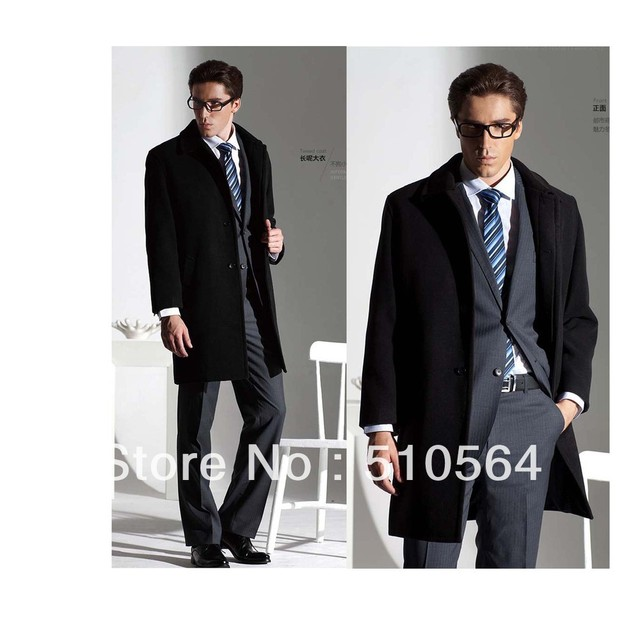 6bbfbaf0a6a Wholesale Free shipping Custom made men cashmere warm jacket black cashmere  coat