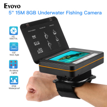 Eyoyo Fish Finder Underwater Fishing Camera 5 Inch 1000TVL Waterproof Video 6PCS Infrared Lamp ICE