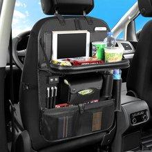 PU Leather Car Seat Back Organizer Universal Multi Pocket Car Back Seat Hanging Storage Bag Foldable Multi Waterproof Organizer недорого