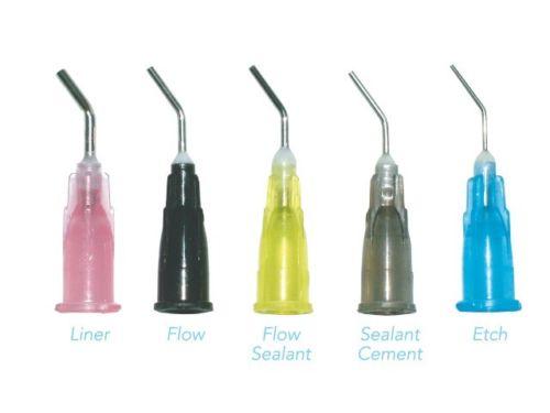 20000pcs To ta l Dental 20Ga Black flow and 25Ga Blue etch pre bent needle tips