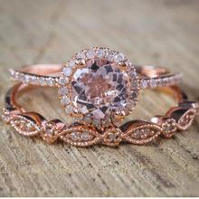 Top Quality Women Crystal Round Rings For Accessories Vintage Rose Gold Finger Girls Jewelry Female Festival Gift