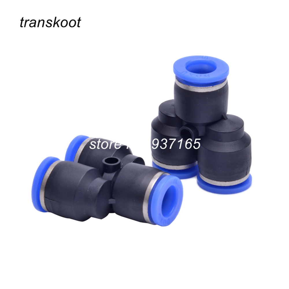5pcs 3 Way Tee Air Pneumatic 4mm 6mm 8mm 10mm 12mm 14mm Y Shaped Plastic Pipe Fitting Push in Connector Fast Quick Coupling