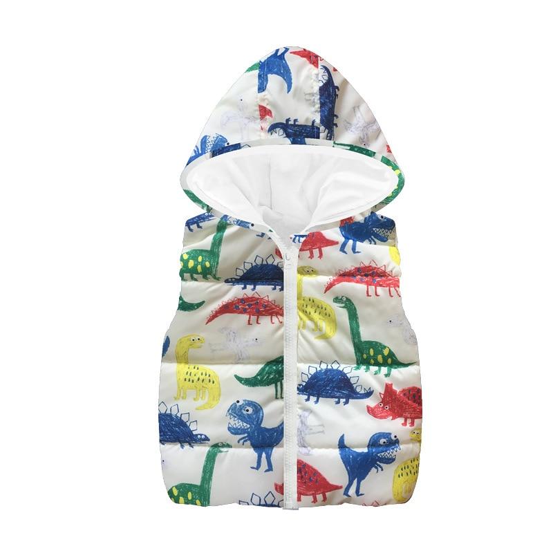 Fleece Children Waistcoat Hooded Baby Boys Coat Fashion Hoodies Boy Vest Tank Tops Kid Outfit Clothing Outwear Sleeveless Jacket 5