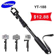 YunTeng 188 Palo Autofoto Extensible De Mano Telescópico Monopod y Clip de Teléfono para Cámaras Smartphone Envío Libre de Buena Calidad