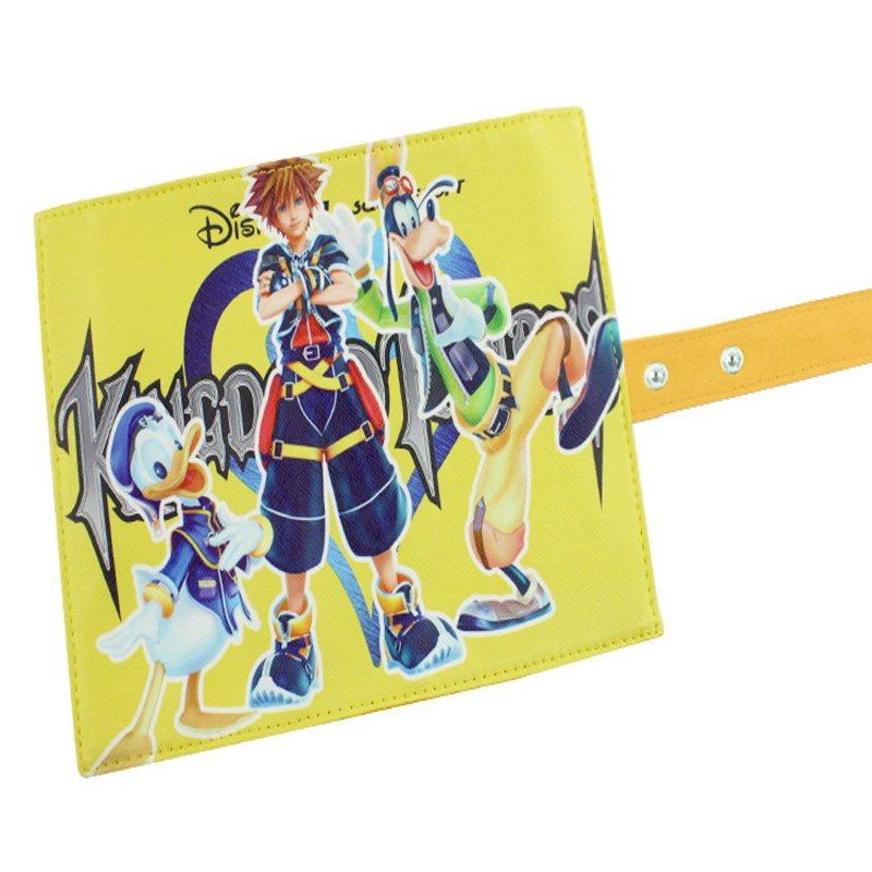 Japan Anime Kingdom Hearts Reel Scroll Style Pencil Stationary Storage Wallet Bag Boys Girls Gift