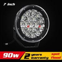 7inch 90W LED Work Light Tractor Truck 12v 24v IP67 SPOT Flood Offroad LED Drive light LED Fog Light seckill 55w 75w
