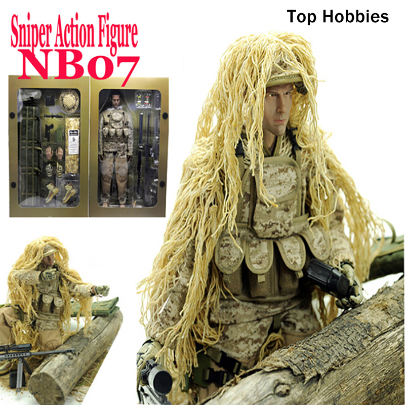 1/6 Military scale action figures doll Set Super Flexible 12action figure doll Desert Sniper Soldier Plastic Model Toys