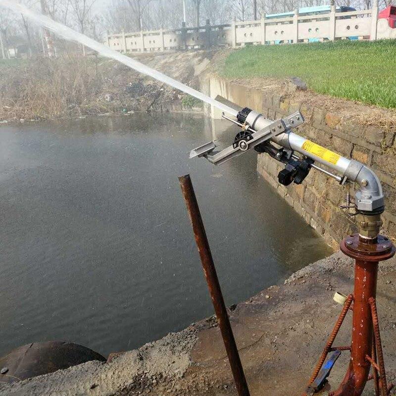 Große Regen Gun Sprinkler System Sprinkler Pistole Kopf Metall Oszillierende Bewässerung Sprinkler Landwirtschaft