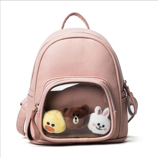US $26 68 | Girls Cute Backpack women Cute Travel Satchel Shoulder bags  Bolsa feminina Plush Shoulder bags Rucksack damen Plush Backpack -in  Backpacks