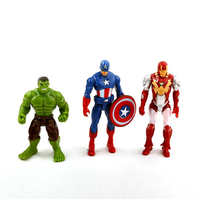 6 шт. Marvel Мстители Бесконечность войны Железный Человек-паук Капитан Америка Человек-паук Черная пантера видение Сокол фигурка игрушки куклы