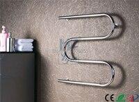 Stainless Steel 304# Heated Towel Rail Round Tube Electric Towel Radiator Mirror Polish Towel WarmerHZ 909