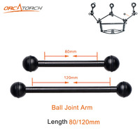 2pcs High Quality 80mm 120mm Ball Joint Arm Camera Tray Holder Bracket for Underwater Scuba Diving Dive Photography Flashlight