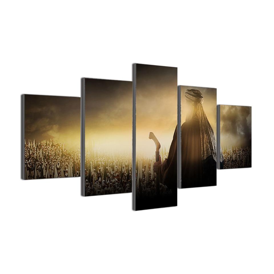 HD Wall Art Modular Modern Canvas Printed Painting 5 Panel ...