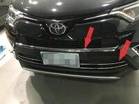 3 шт./компл. ABS хромированные и Нержавеющаясталь решетка отделка гарнир стайлинга автомобилей подходит для Toyota RAV4 для Toyota Previa RAV 4 2016 аксессу