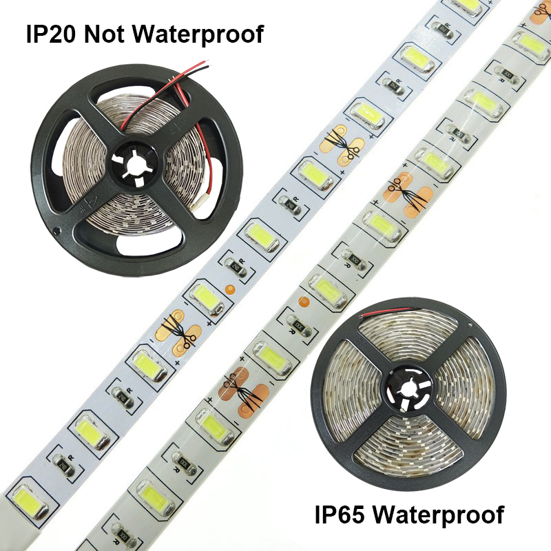 Taoguang lighting 60LEDs/m 5630 5730 Tiras de LED Tape Waterproof Led Strip 12V Luces LED Strips Accessories for Home Decoration